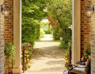 Фотообои Арка в саду 28155