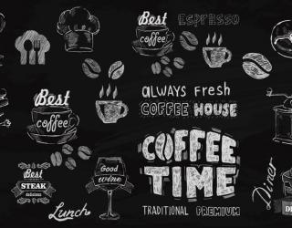 Фотообои Принты с кофе 27602