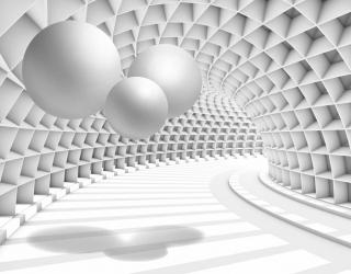 3д фотообои Тоннель с шарами 19924