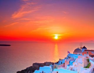 Фотообои о. Санторини, Греция 5061