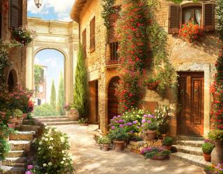 Фотообои Итальянская улочка 22404