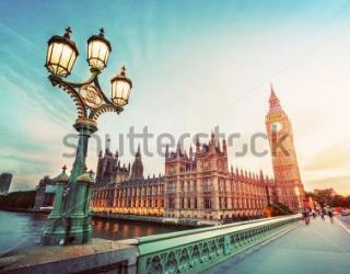 Фотообои Биг - Бен, фонарь, мост  294200765