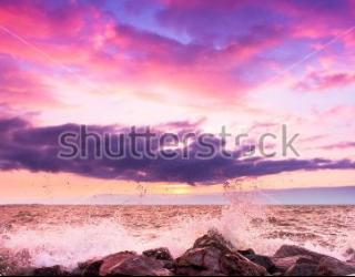 Фотообои Берег, небо, камни 455964580