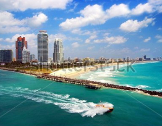 Фотообои Город, пляж, океан 224565427