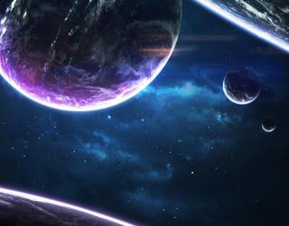 Фотообои сияние планет 21489