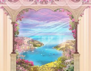 Фотообои Фреска арка с видом на море 23917