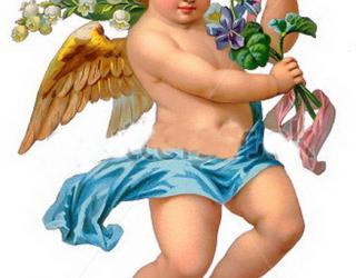 Фотообои Ангел и цветки 1039311