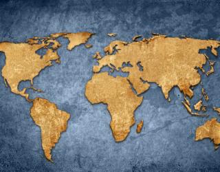 Фотообои Карта мира в стиле лофт 22624