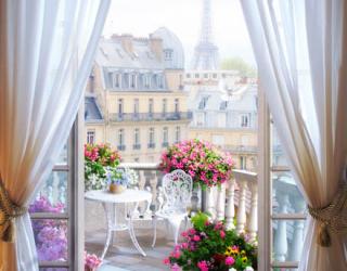 Фотообои Вид из балкона на Париж 22496