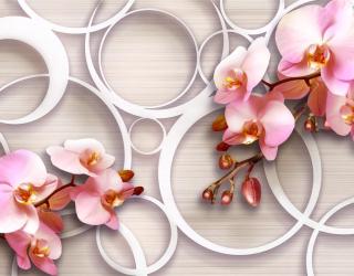 Фотообои Орхидеи 3д 18735