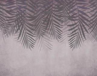 Фотообои Листья с потолка на коричневом 24314