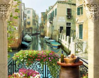 Фотообои Вид из арки на Венецию 25956