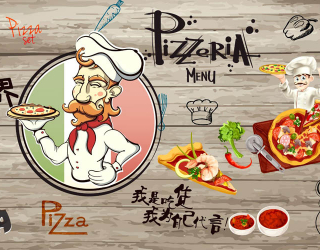 Фотообои Для любителей пиццы 28949