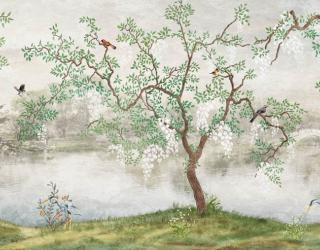 Фотообои Дерево с птицами 27058