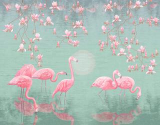 Фотообои Розовые фламинго 20155