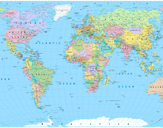 Фотообои Политическая карта 23547