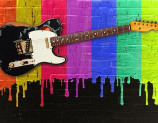 Фотообои Принт с гитарой 22592