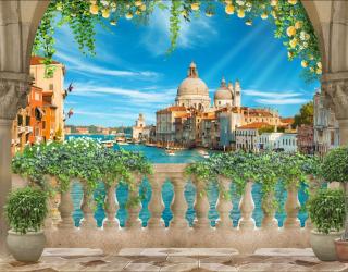 Фотообои Вид с балкона на Венецию 28051