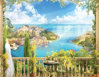 Фотообои Вид с балкона на море 22371