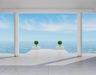 Фотообои Вид на море из номера 20750