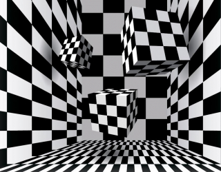 3д фотообои Черно-белая абстракция 2636