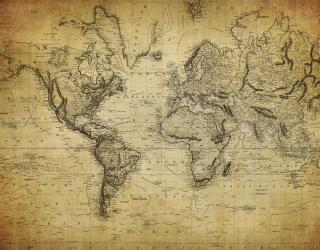 Фотообои Старинная карта мира 20550