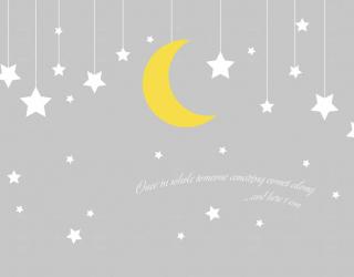 Фотообои Звёзды и месяц 23046