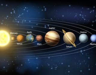 Фотообои Планеты в космосе 25848