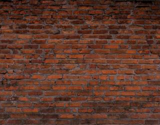 Фотообои Темно коричневая кирпичная стена 20264
