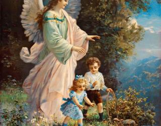 Фотообои Ангел благославляет детей 2056