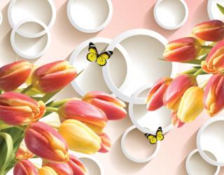 Фотообои Тюльпаны 3д 16419