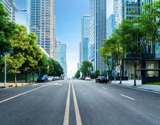 Фотообои Дорога в мегаполисе 23571