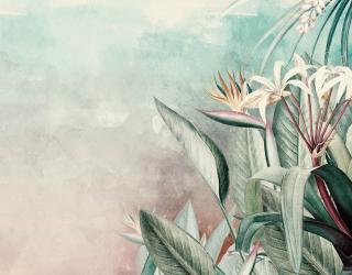 Фотообои Цветы и листья тропические  27574