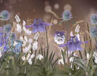 Фотообои Дизайнерские цветы 24336