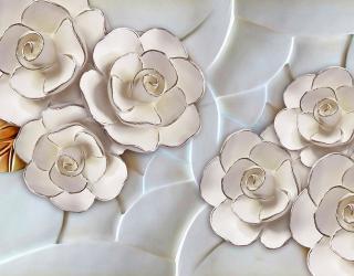 Фотообои Фарфоровые белые цветы 20039