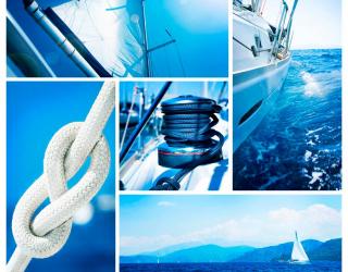 Фотообои Парусник в море 4543
